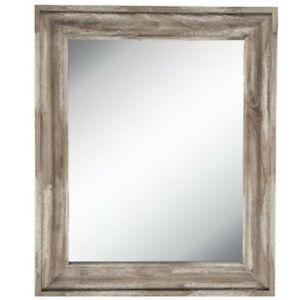 Rustic-Country-Distressed-Driftwood-Beveled-Wall-Mirror-Decor-35-034-X-29-034-XXL