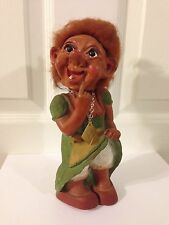 VINTAGE HEICO WEST GERMAN NODDER BOBBLE HEAD  LADY TROLL NOSE PICKER RARE