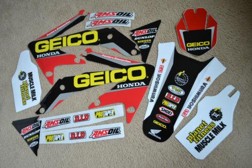 GEICO TEAM GRAPHICS HONDA CRF450R CRF450  2005 2006 2007 2008
