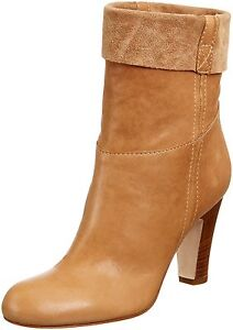 Pied-A-Terre-Womens-UK-8-EU-41-Blonde-Samma-Pull-On-Ankle-Boots-100-Leather-NEW