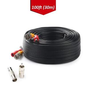Tonton-BNC-RCA-Cord-100FT-30m-Cable-Video-Power-For-Camera-DVR-CCTV-Security