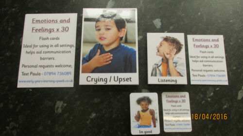 NEW **Emotions feelings cards with ACTUAL pictures** Autism ~ASD~SEN~Home~ETC