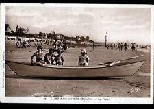 SAINT-PAIR-sur-MER (50) VILLAS & BARQUE à la PLAGE trés animés en 1947