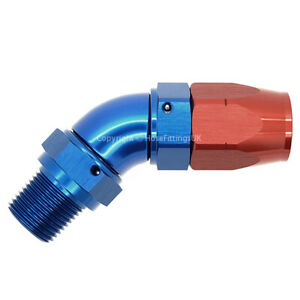 3-8-NPT-MALE-SWIVEL-to-AN8-45-DEGREE-FULL-FLOW-CUTTER-Fuel-Braided-Hose-Fitting
