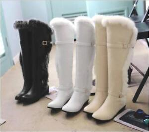 Fashion-Womens-Fur-Trim-Winter-Over-The-knee-Boots-warm-Casual-Snow-Boots-Shoes
