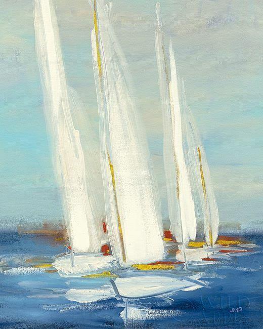 Julia Purinton  Summer Regata II Barella-Immagine Schermo Barca a Vela Mare Blu