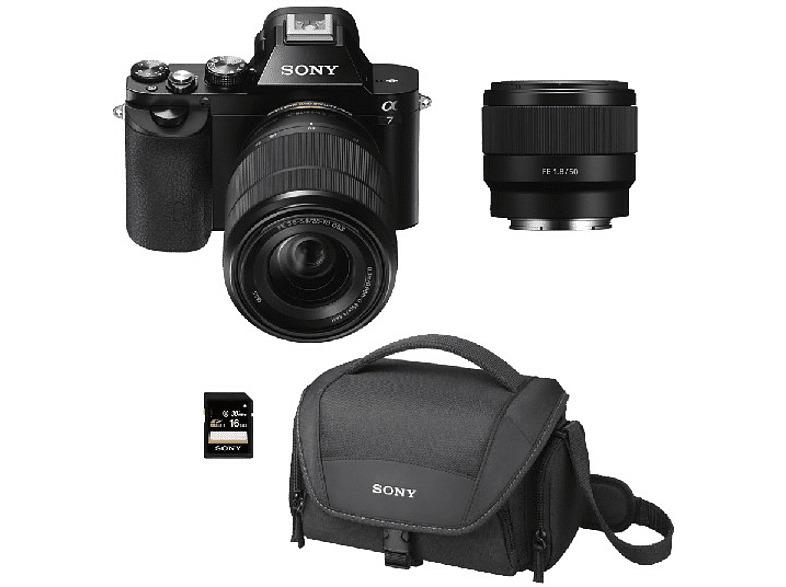 Sony ILCE 7KB, Sensor de 24.3 MP, Full Frame + SEL 28-70...