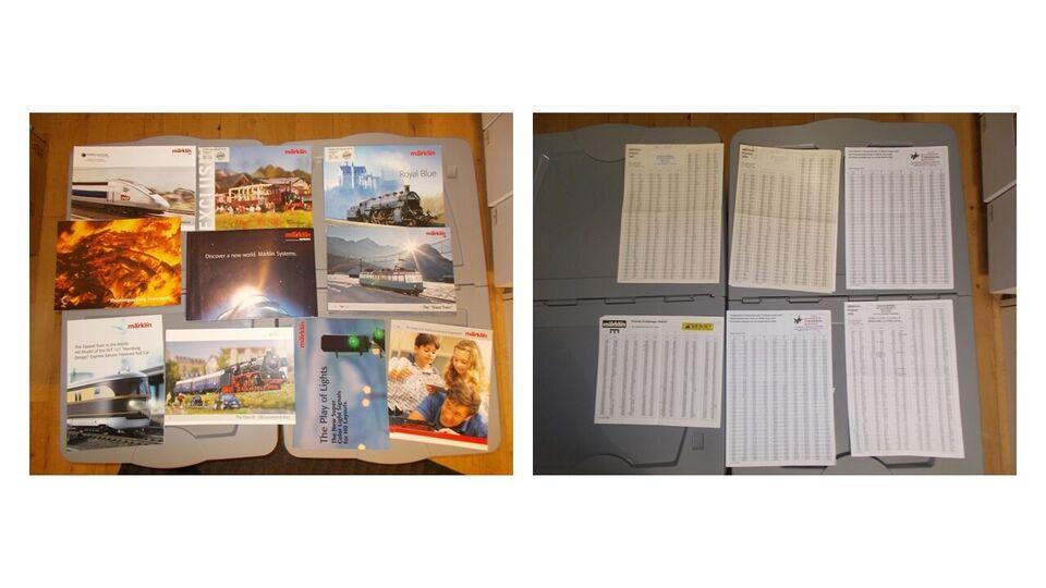 Modeltog, Diverse modeltog kataloger mv.