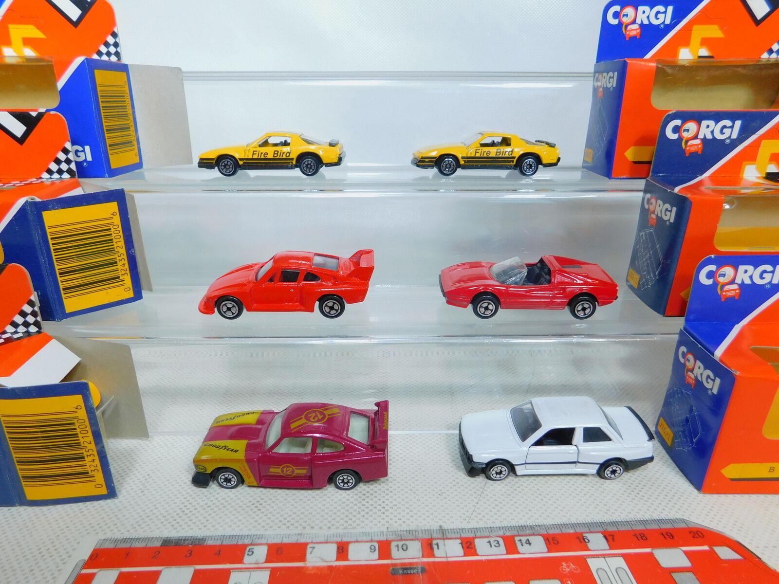 By330-1  6x CORGI 1 43 voiture  Ferrari Ferrari Ferrari  Porsche  BMW  PONTIAC  Ford, neuf dans sa boîte a387f7