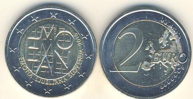 2 Euro Gedenkmünze 2015 Slowenien 2000 Jahre EMONA - Ljubljana