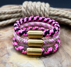 Segeltau-Armband-8mm-NEU-Pink-Magnetverschluss-Handmade-Damen-Frauen-Maedchen