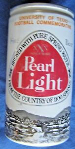PEARL-LIGHT-UNIVERSITY-OF-TEXAS-FOOTBALL-1975-SCHEDULE-ALUMINUM-BEER-CAN