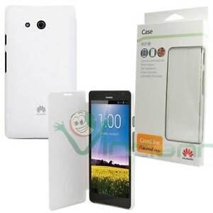 Custodia-Flip-cover-BIANCA-originale-Huawei-per-Ascend-Mate-case-bianco-booklet
