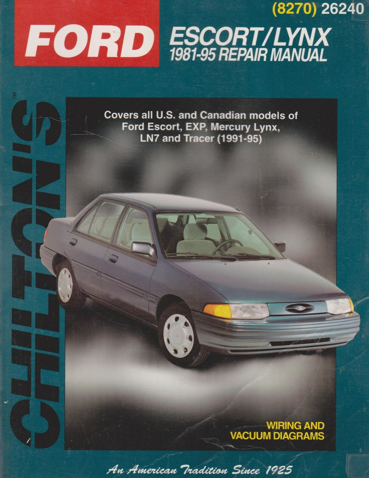 Chilton's Total Car Care: Ford Escort and Mercury Lynx, 1981-95 by Chilton  Automotive Editorial Staff (1998, Paperback) | eBay