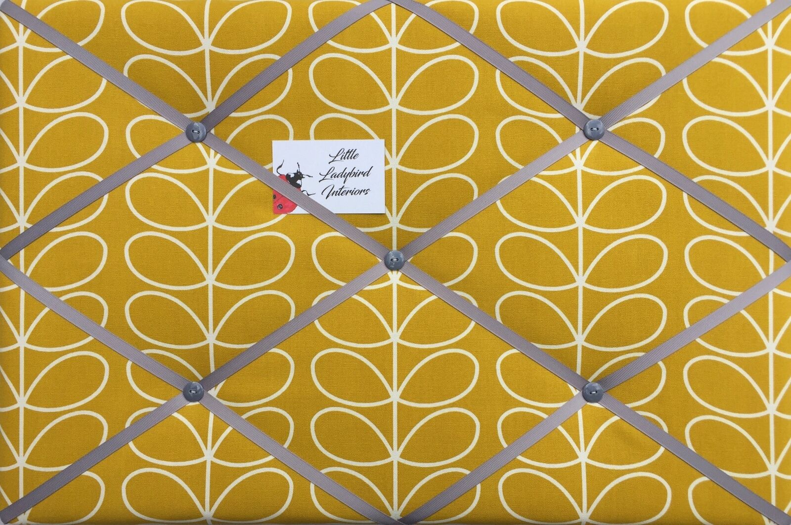 Custom Made Tissu PIN/mémo/Avis liège conseil Orla Kiely tige linéaire tige Kiely tissus 7f5090