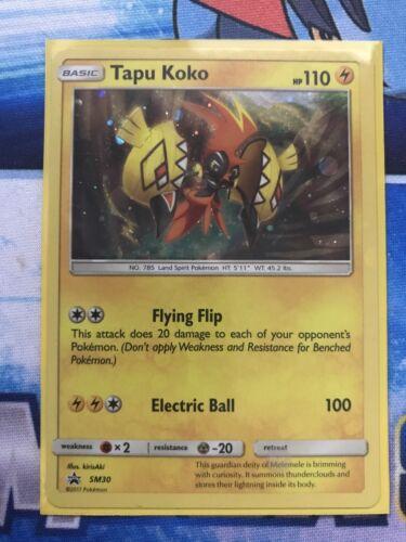 POKEMON Card TAPU KOKO SM30 HOLO BLACK STAR PROMO CARD NM 2x