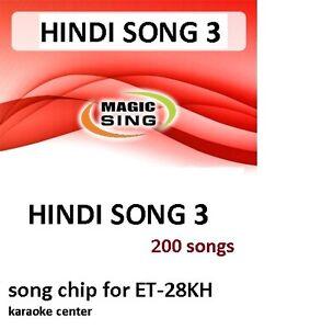 Details about HINDI 3 CHIP Enter Tech Entertech Magic Sing Mic 200 Songs  for ET28KH