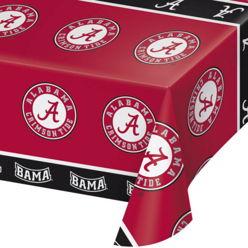2-ct University of Alabama Crimson Tide Plastic Table Covers College Party