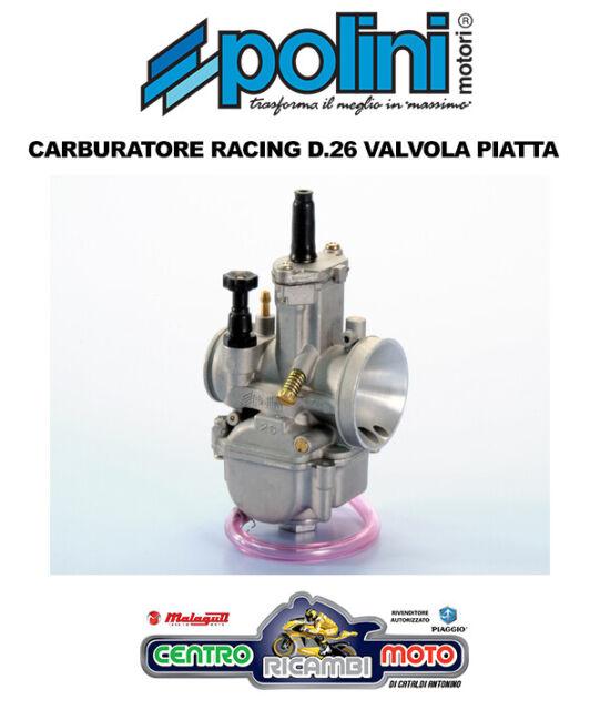 Carburador Polini Racing Pwk Válvula Piso 26 Piaggio Ntt 50 2T