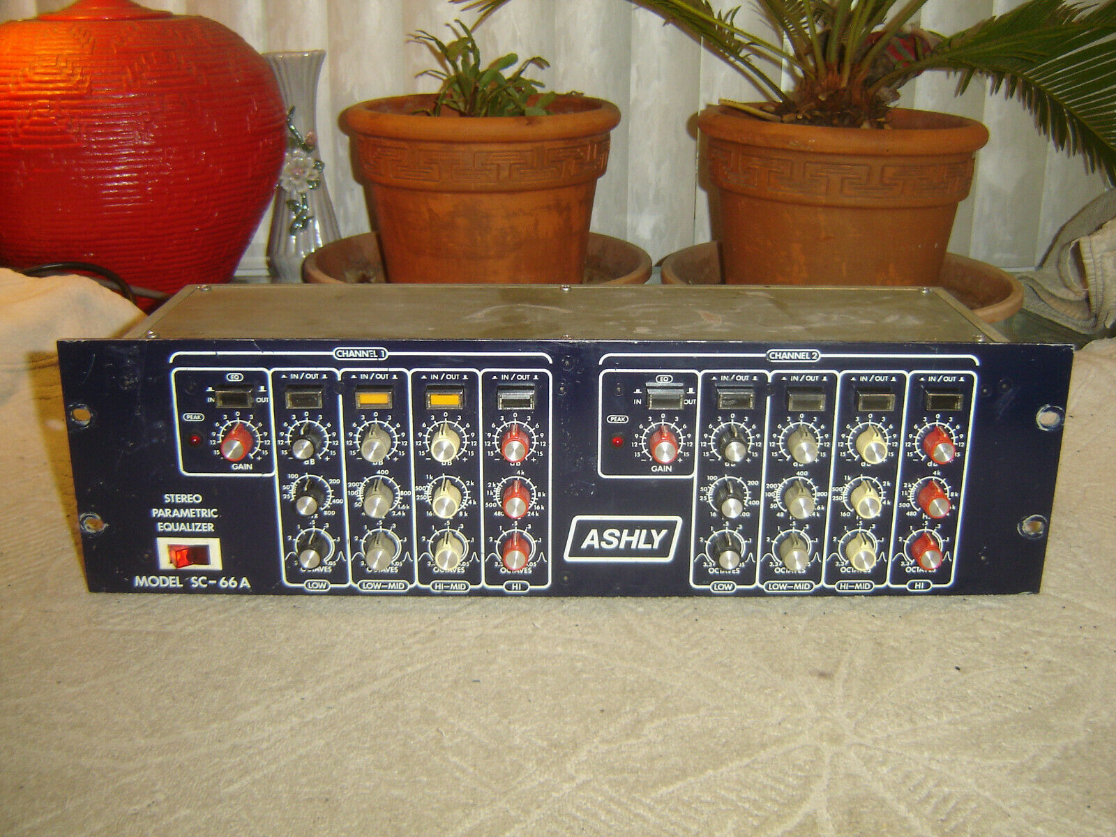 Ashly SC-66A, Blauface Stereo Parametric Equalizer, Eq, Vintage Rack, As Is