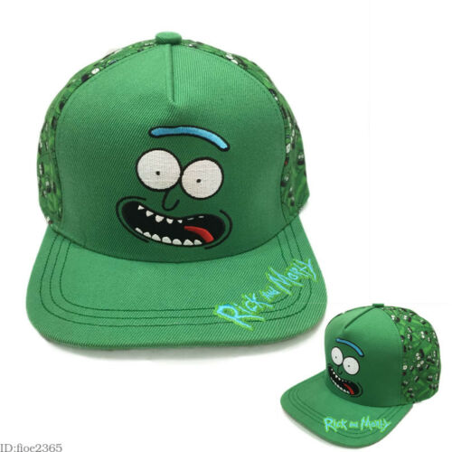 Rick and Morty Hat Pickle Rick Snapback Hip-Hop Baseball Cap Gift Adjustable Cos