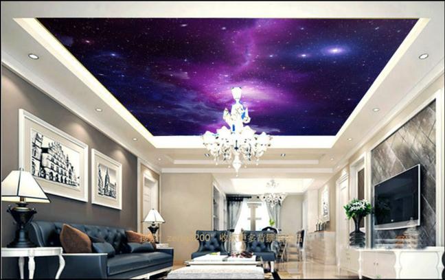 3D Sky lila 54 Ceiling WallPaper Murals Wall Print Decal AJ WALLPAPER US
