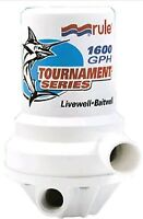 Rule Tournament Series Dual Port Livewell Pump. 1,600 Gph. 209fdp