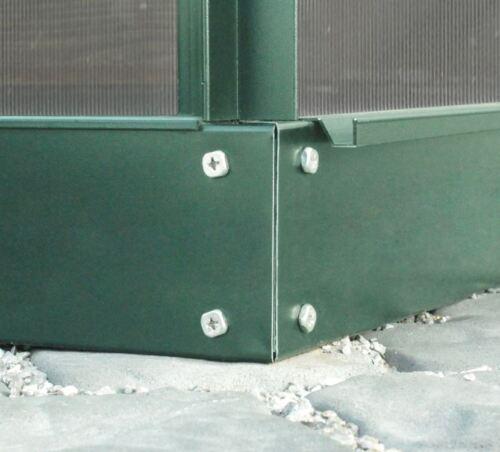 Stahlfundament für Gewächshaus Planet//Comet 4 Größen grün smaragd