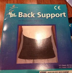 Med-Spec-Back-N-Black-Ruecken-Stuetze-Groesse-Xs-Schwarz-163201-Neu