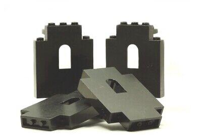 4 LEGO Bauteile Burg Teile schwarz Ritter Festung Wände