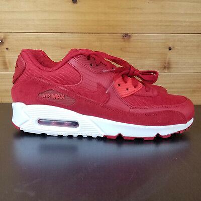Nike Air Max 90 Premium Running Mens Shoes Gym Red 700155 602 | eBay