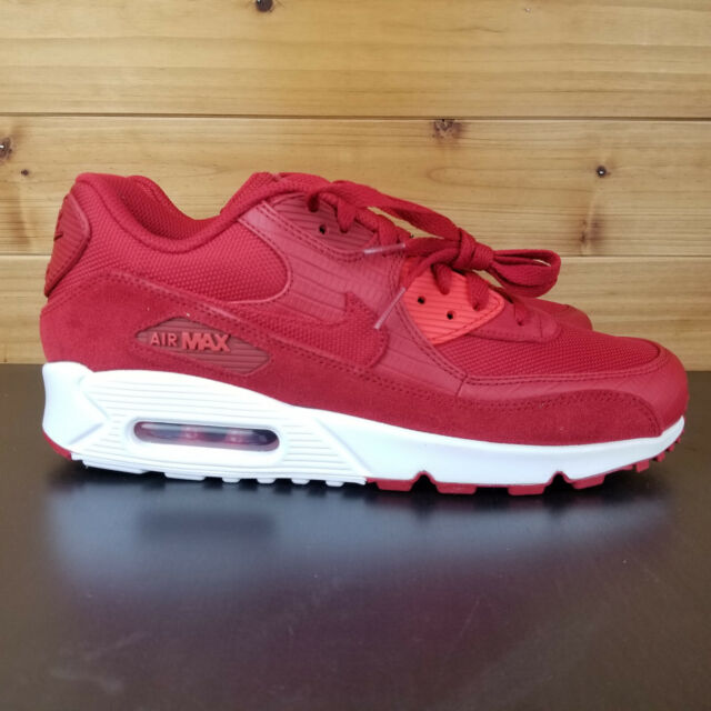 wholesale dealer 1fb4a 937e6 Nike Air Max 90 Premium Men's Running Shoes Gym Red White 700155-602 Size 12