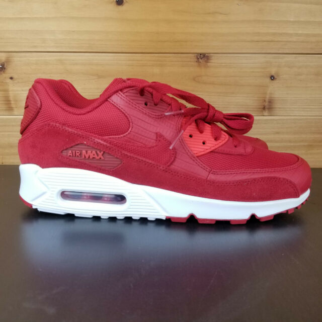 Nike Air Max 90 Premium Running Mens Shoes Gym Red 700155 602