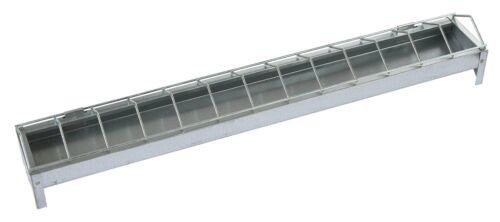Junghennentrog 100 cm verzinkt Jungtiertrog Geflügeltrog aus Metall