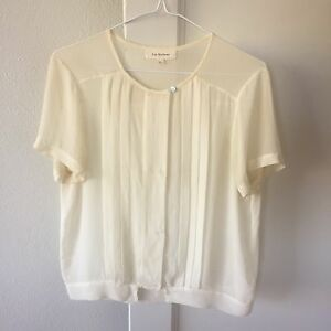 Lee-Mathews-White-100-Silk-Shirt-Size-1