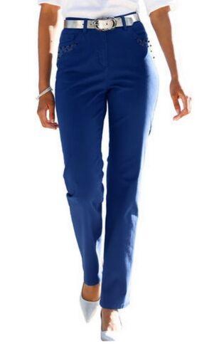 STRETCH-HOSE royal-blau TWILL-HOSE 24//48 25//50 26//52 27//54 STEINCHEN+PERLEN NEU