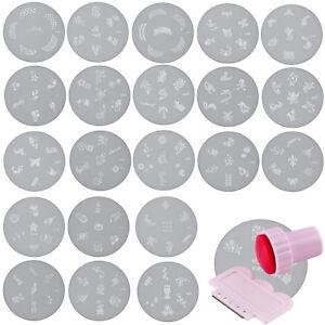 Schablone-fuer-Nagelstempel-Nailstamping-Metall-Platte-Nagel-Stempel-Stamping