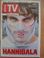 GAZETA TV, HUGH DANCY/Hannibal,Gillian Anderson,Mads Mikkelsen,Anthony Hopkins