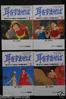 JAPAN Whisper of the Heart manga 1~4 Complete Set Film Comic (Book)
