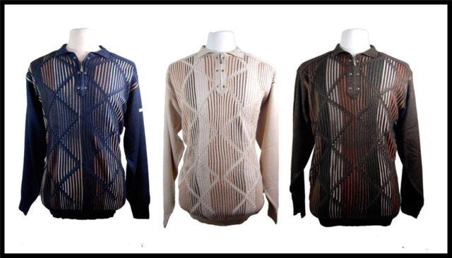 Men's New Silversilk Knit Half Zip Sweater Jacket Brown,Beige,Navy SN3222