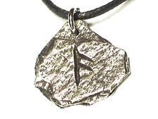 ANSUZ Viking Rustic Slate Rune pendant,God, Knowledge, Letter 'A'