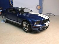 1/24 Franklin Mint Blue Whiet 2007 Shelby Mustang Gt 500 Gt500 B11e421 1,628
