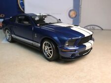 1/24 Franklin Mint Blue White 2007 Shelby Mustang GT 500 GT500 B11E421 #1,628