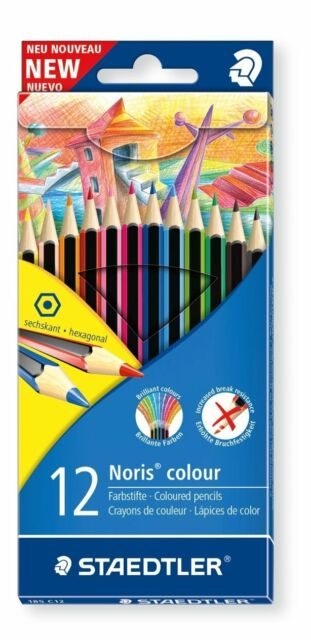 12 X Staedtler Wopex Noris Lápices de Colores - Varios Colores, Forma Hexagonal