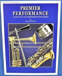 Ed Sueta Premier Performance Baryton Bari Bass Clef Livre Laiton 1 Instruction-afficher Le Titre D'origine Volume Large