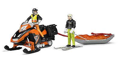 BRUDER 63100 bworld Snowmobil mit Rettungsschlitten, Bruder