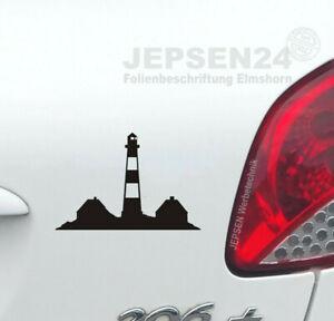 Westerhever-Leuchtturm-Autoaufkleber-10x7cm-S049A-Farbwahl-Aufkleber-Tattoo