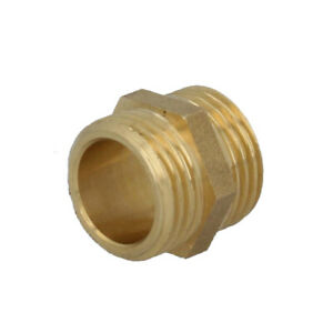 Messing-Doppelnippel-Nippel-Gewindefitting-AG-Verschraubung-Rohrnippel-Varianten
