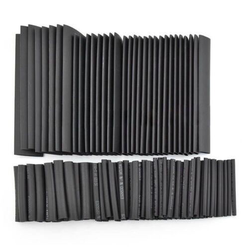 127Pcs Black Glue Weatherproof Heat Shrink Sleeving Tubing Tube Assortment J2G4
