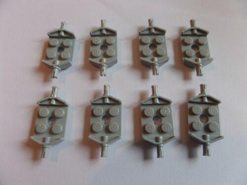 8x LEGO 6157 achsplatte 2x2 NUOVO GRIGIO CHIARO LIGHT Bluish Gray 4211569